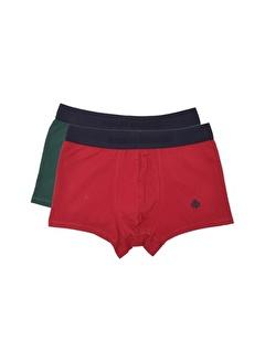 ADAM BOXES Boxer Trunk Gracia Kırmızı, Koyu Yeşil 2'li Paket